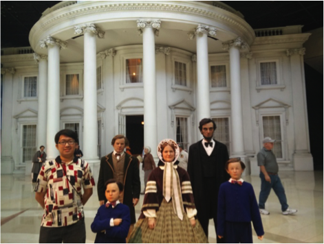 Replica of President Lincoln and His Family Being Displayed in Lincoln's Presidential Musum in Springfield, Illinois