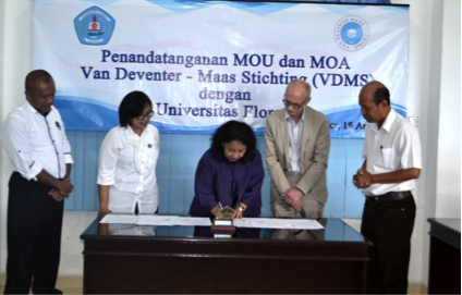 MoU Signing VDMS and Flores University (UNFLOR)