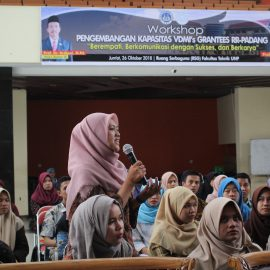 RR Padang : Capacity Development Workshop of VDMI's Grantee